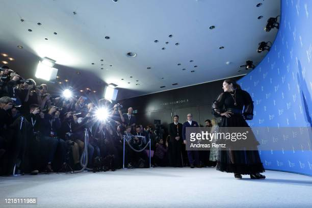 "Salma Hayek at the ""The Roads Not Taken"" photo call during the 70th Berlinale International Film Festival Berlin at Grand Hyatt Hotel on February 26,..."