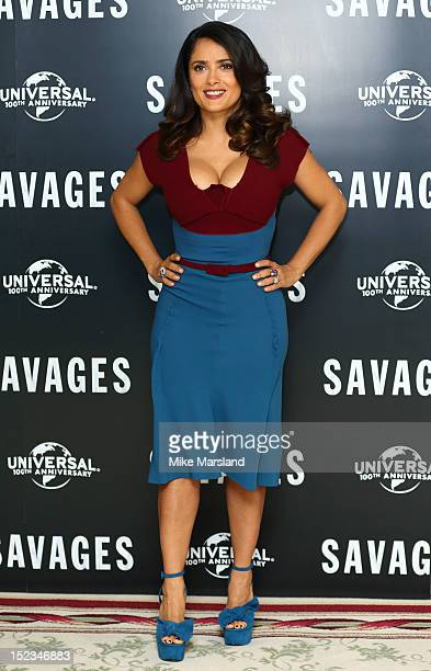Salma Hayek attends a photocall for new film 'Savages' at The Mandarin Oriental on September 19 2012 in London England