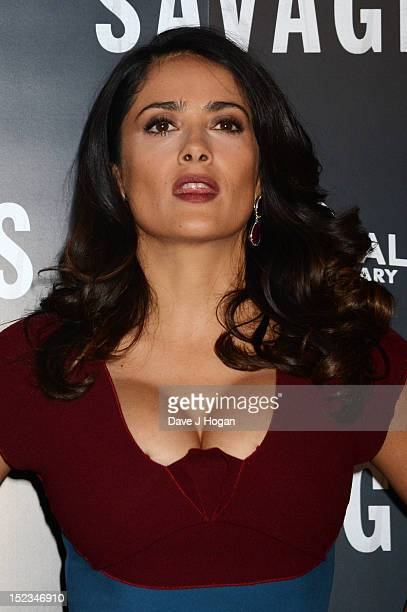 Salma Hayek attends a photocall for Savages at The Mandarin Oriental Hotel on September 19 2012 in London England