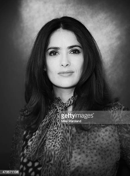 Salma Hayek attends a talk by Salma Hayek for Kering during the 68th annual Cannes Film Festival on May 16, 2015 in Cannes, France.