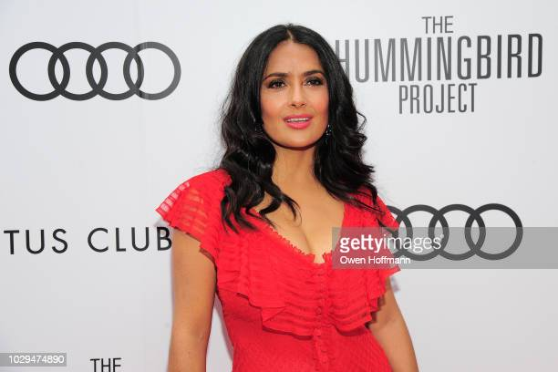 Salma Hayek attends Audi Canada And Cactus Club Host The PostScreening Event For The Hummingbird Project During The Toronto International Film...