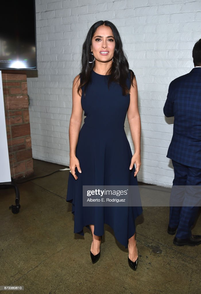 Salma Hayek attends 'Indie Contenders Roundtable' at AFI FEST 2017 Presented By Audi at Hollywood Roosevelt Hotel on November 12, 2017 in Hollywood, California.
