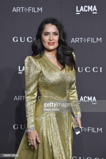 Salma Hayek attends LACMA Art Film Gala 2018 at Los Angeles County Museum of Art on November 3 2018 in Los Angeles CA