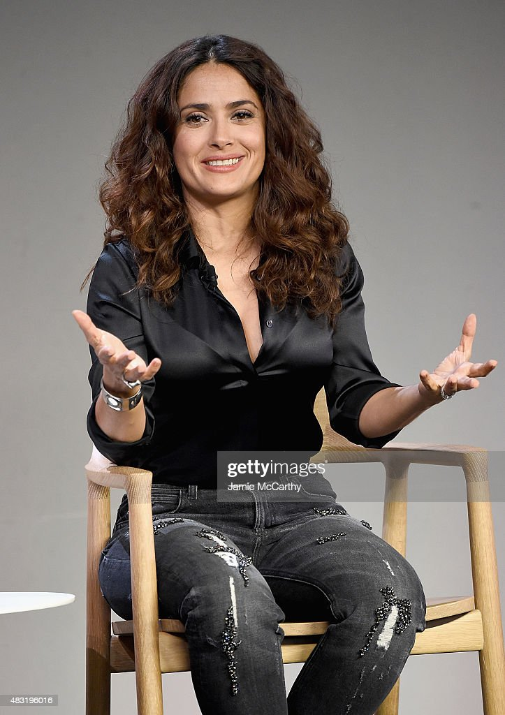 Salma Hayek, 'Kahlil Gibran's The Prophet' at Apple Store Soho on August 6, 2015 in New York City.