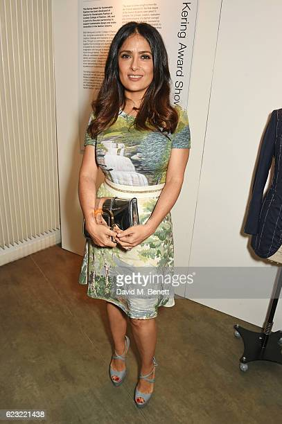 Salma Hayek attends the 2016 Kering Talk at the London College of Fashion on November 14 2016 in London England