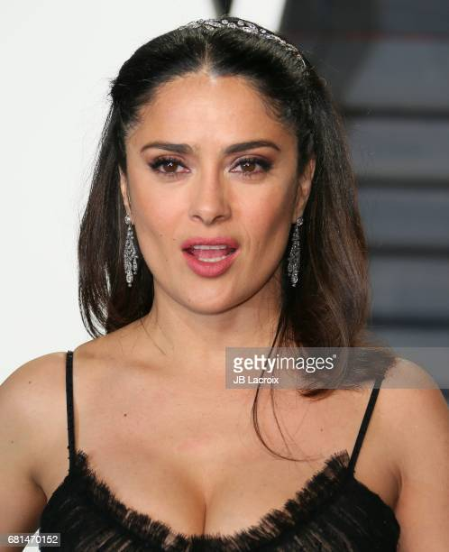 Salma Hayek attends the 2017 Vanity Fair Oscar Party hosted by Graydon Carter at Wallis Annenberg Center for the Performing Arts on February 26 2017...