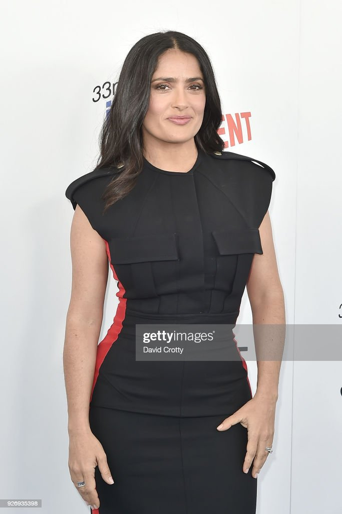 Salma Hayek attends the 2018 Film Independent Spirit Awards - Arrivals on March 3, 2018 in Santa Monica, California.