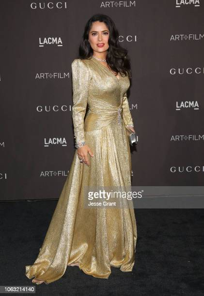 Salma Hayek attends the 2018 LACMA Art Film Gala at LACMA on November 03 2018 in Los Angeles California