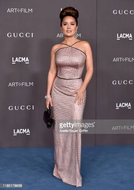 Salma Hayek attends the 2019 LACMA Art Film Gala Presented By Gucci on November 02 2019 in Los Angeles California