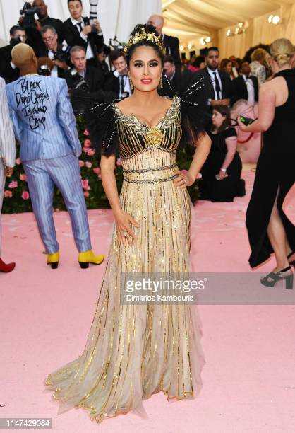 Salma Hayek attends The 2019 Met Gala Celebrating Camp Notes on Fashion at Metropolitan Museum of Art on May 06 2019 in New York City