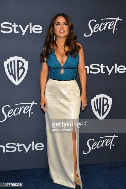 Salma Hayek attends the 21st Annual Warner Bros And InStyle Golden Globe After Party at The Beverly Hilton Hotel on January 05 2020 in Beverly Hills...