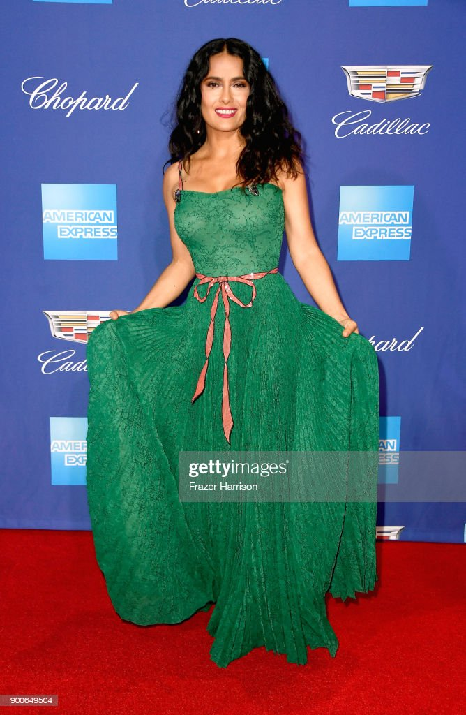 Salma Hayek attends the 29th Annual Palm Springs International Film Festival Awards Gala at Palm Springs Convention Center on January 2, 2018 in Palm Springs, California.