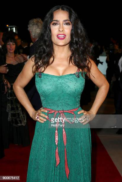 Salma Hayek attends the 29th Annual Palm Springs International Film Festival Awards Gala at Palm Springs Convention Center on January 2 2018 in Palm...