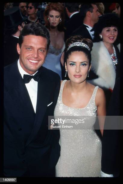 Salma Hayek attends the 69th Annual Academy Awards ceremony March 24 1997 in Los Angeles CA