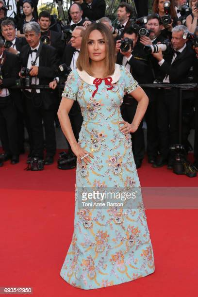 Salma Hayek attends the 70th anniversary event during the 70th annual Cannes Film Festival at Palais des Festivals on May 23 2017 in Cannes France
