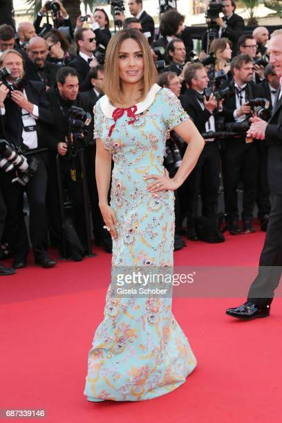 Salma Hayek attends the 70th Anniversary of the 70th annual Cannes Film Festival at Palais des Festivals on May 23 2017 in Cannes France