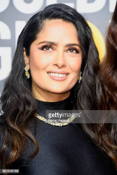 Salma Hayek attends The 75th Annual Golden Globe Awards at The Beverly Hilton Hotel on January 7 2018 in Beverly Hills California