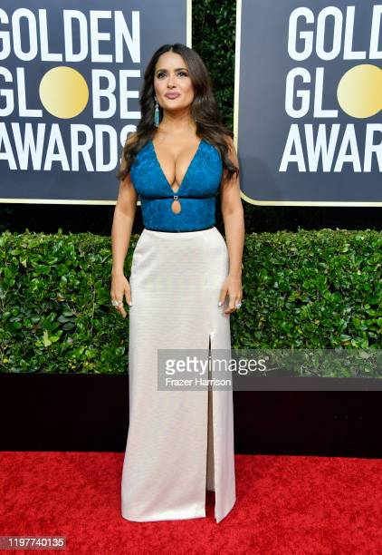 Salma Hayek attends the 77th Annual Golden Globe Awards at The Beverly Hilton Hotel on January 05 2020 in Beverly Hills California