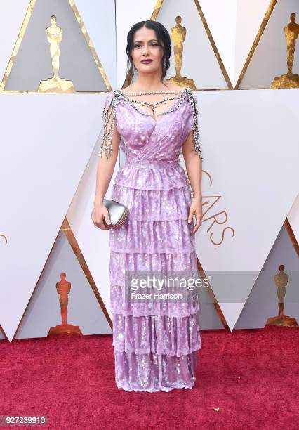 Salma Hayek attends the 90th Annual Academy Awards at Hollywood Highland Center on March 4 2018 in Hollywood California