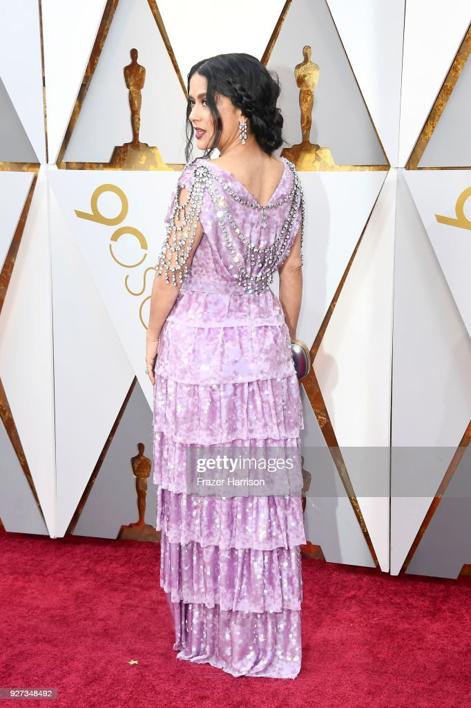 Salma Hayek attends the 90th Annual Academy Awards at Hollywood & Highland Center on March 4, 2018 in Hollywood, California.