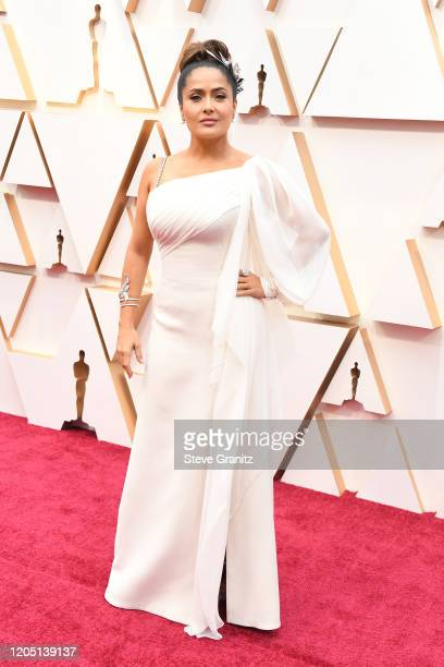 Salma Hayek attends the 92nd Annual Academy Awards at Hollywood and Highland on February 09 2020 in Hollywood California
