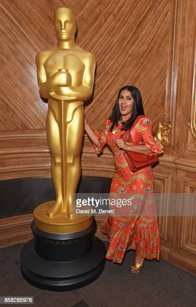 Salma Hayek attends the Academy of Motion Picture Arts and Sciences Women In Film lunch at Claridge's Hotel on October 6 2017 in London England