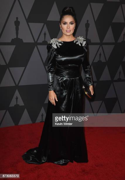 Salma Hayek attends the Academy of Motion Picture Arts and Sciences' 9th Annual Governors Awards at The Ray Dolby Ballroom at Hollywood Highland...