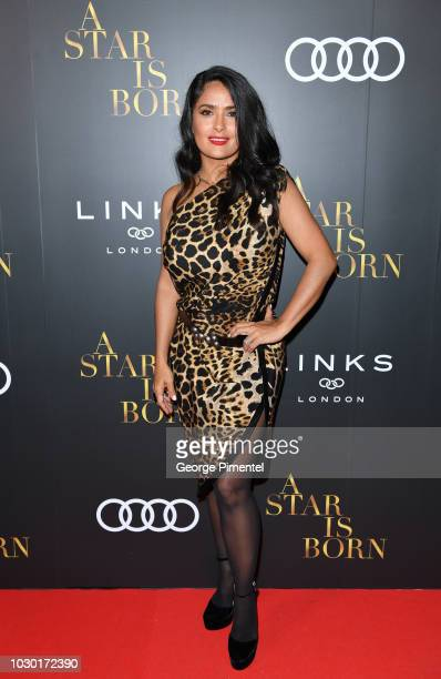 Salma Hayek attends the Audi Canada And Links Of London CoHosted PostScreening Event For A Star Is Born During The Toronto International Film...