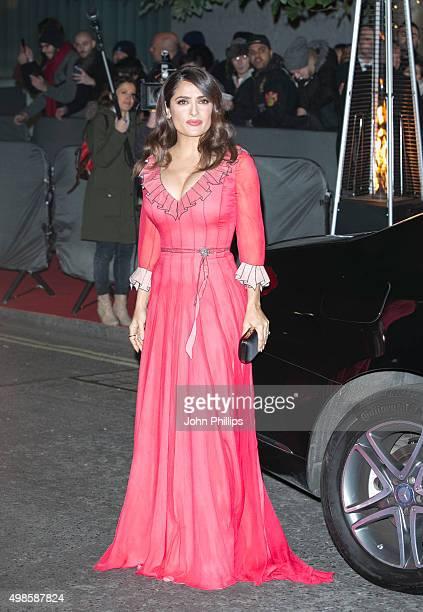 Salma Hayek attends the British Fashion Awards 2015 at London Coliseum on November 23 2015 in London England