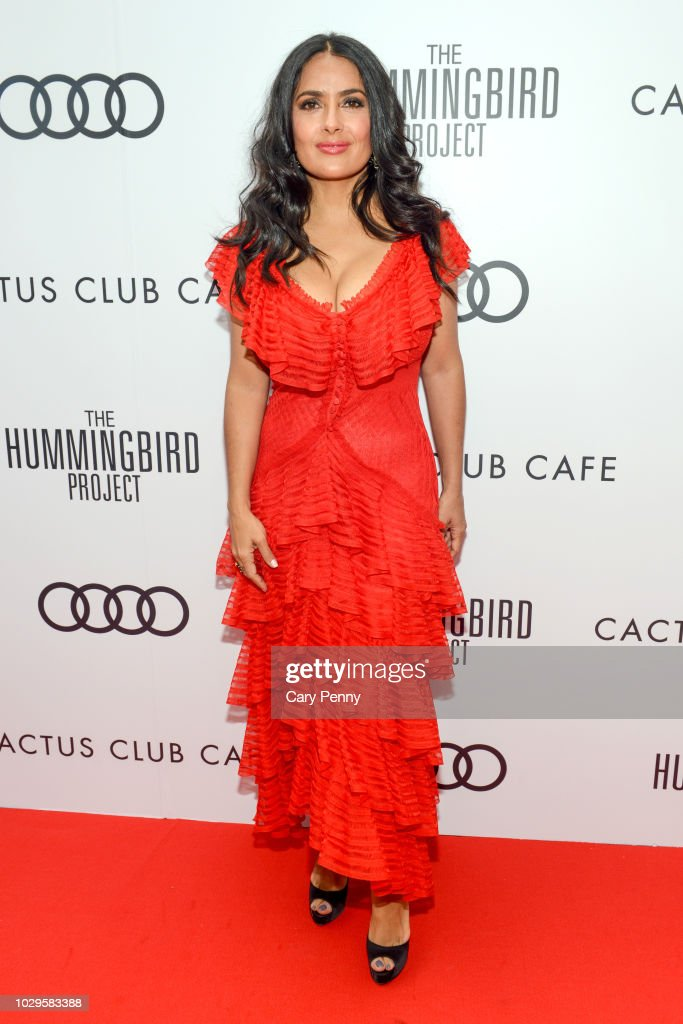 "Cactus Club Cafe And Audi Celebrate ""The Hummingbird Project"" Starring Salma Hayek, Jesse Eisenberg And Alexander Skarsgard At TIFF 2018 : News Photo"