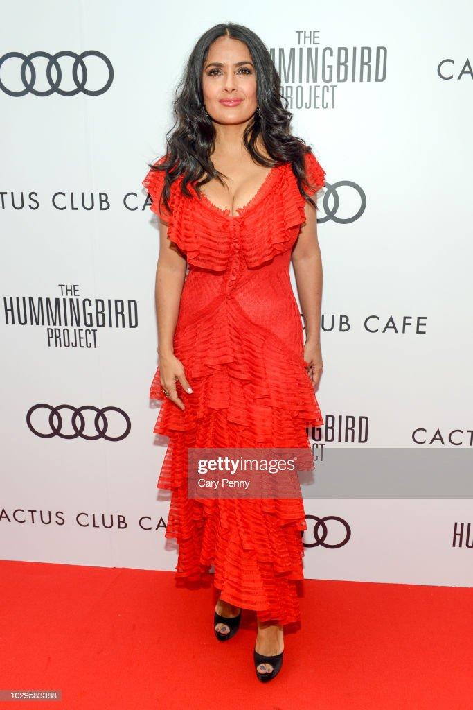 "Cactus Club Cafe And Audi Celebrate ""The Hummingbird Project"" Starring Salma Hayek, Jesse Eisenberg And Alexander Skarsgard At TIFF 2018"