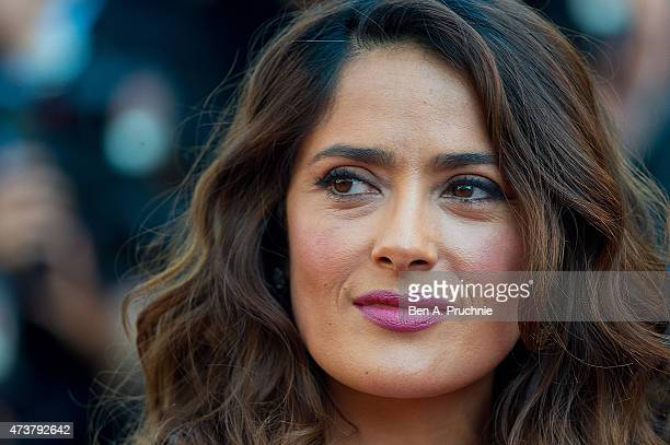Salma Hayek attends the Carol Premiere during the 68th annual Cannes Film Festival on May 17 2015 in Cannes France