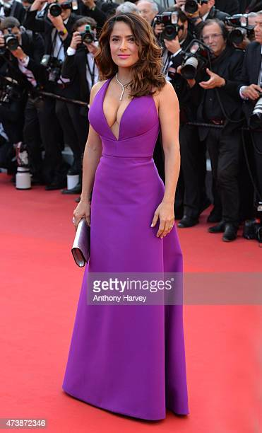 Salma Hayek attends the 'Carol' premiere during the 68th annual Cannes Film Festival on May 17 2015 in Cannes France