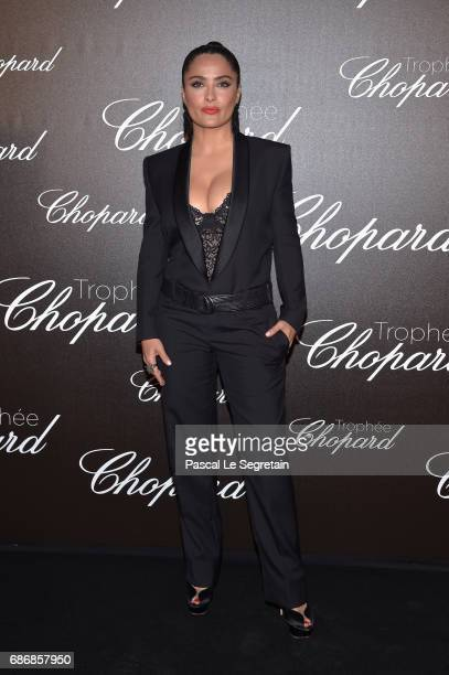 Salma Hayek attends the Chopard Trophy photocall at Hotel Martinez on May 22 2017 in