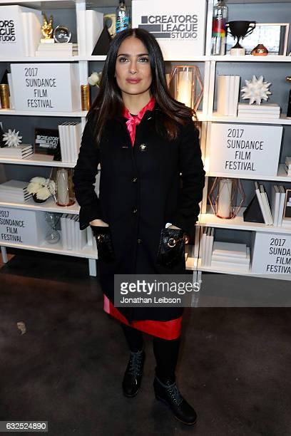 Salma Hayek attends the Creators League Studio At 2017 Sundance Film  Festival Day 5 at PepsiCo s b7f1870efe59