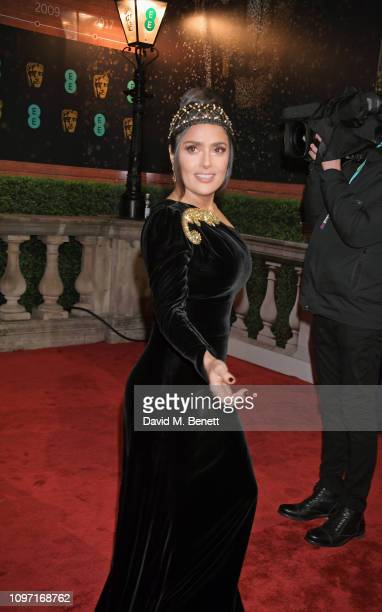 Salma Hayek attends the EE British Academy Film Awards at Royal Albert Hall on February 10 2019 in London England