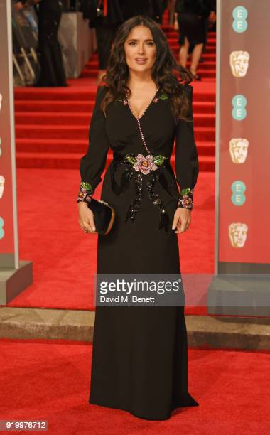 Salma Hayek attends the EE British Academy Film Awards held at Royal Albert Hall on February 18 2018 in London England