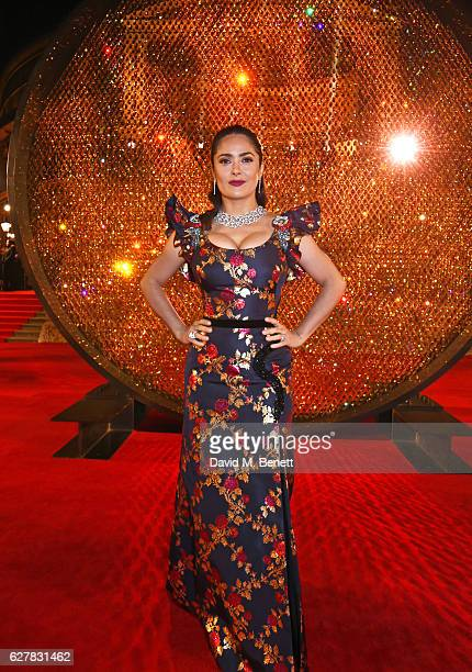 Salma Hayek attends The Fashion Awards 2016 at Royal Albert Hall on December 5 2016 in London United Kingdom