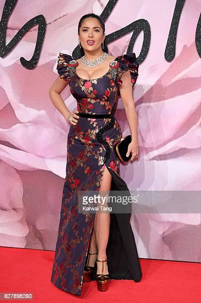 Salma Hayek attends The Fashion Awards 2016 at the Royal Albert Hall on December 5 2016 in London United Kingdom