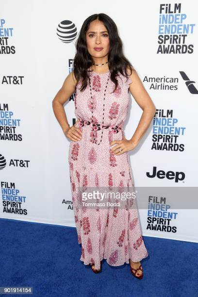 Salma Hayek attends the Film Independent Spirit Awards Nominee Brunch at BOA Steakhouse on January 6 2018 in West Hollywood California