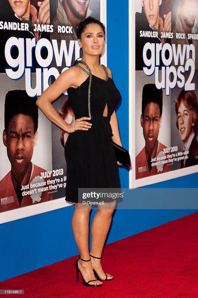 Salma Hayek attends the 'Grown Ups 2' New York Premiere at AMC Lincoln Square Theater on July 10, 2013 in New York City.