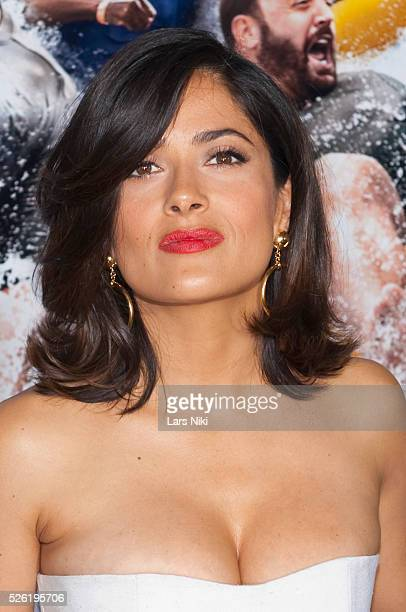 Salma Hayek attends the Grown Ups New York premiere at the Ziegfeld Theater in New York City