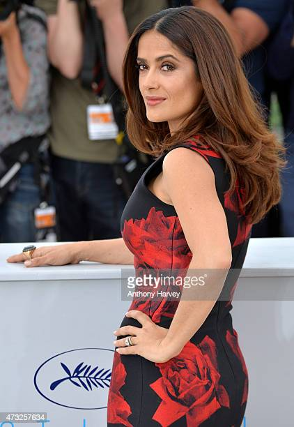 Salma Hayek attends the 'Il Racconto Dei Racconti' photocall during the 68th annual Cannes Film Festival on May 14 2015 in Cannes France