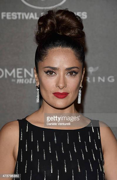 Salma Hayek attends the Kering Official Cannes Dinner at Place de la Castre on May 17, 2015 in Cannes, France.