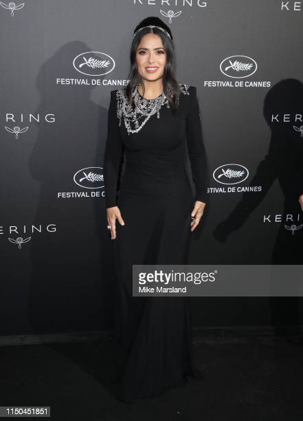 Salma Hayek attends the Kering Women In Motion Awards during the 72nd annual Cannes Film Festival on May 19 2019 in Cannes France