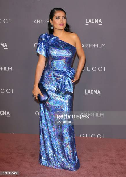 Salma Hayek attends the LACMA Art + Film Gala honoring Mark Bradford and George Lucas on November 04, 2017 in Los Angeles, California.