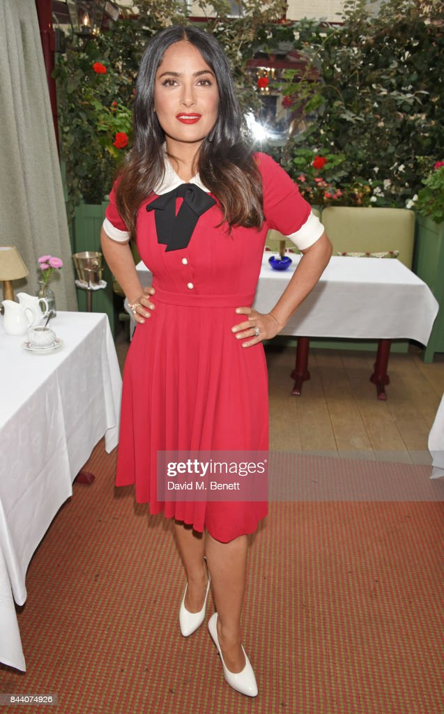 Salma Hayek attends the mothers2mothers Host Committee Breakfast at Mark's Club on September 7, 2017 in London, England.