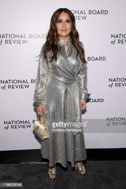 Salma Hayek attends The National Board of Review Annual Awards Gala at Cipriani 42nd Street on January 08 2020 in New York City