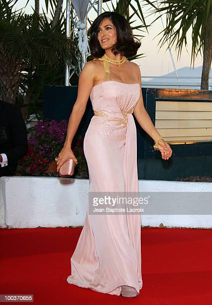 Salma Hayek attends the Palme d'Or Award Ceremony Photo Call held at the Palais des Festivals during the 63rd Annual International Cannes Film...