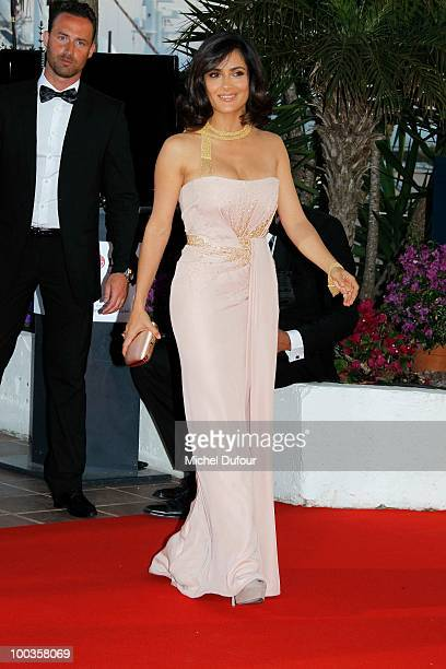 Salma Hayek attends the Palme d'Or Award Photocall held at the Palais des Festivals during the 63rd Annual Cannes Film Festival on May 23, 2010 in...
